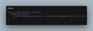 flutter code snippet