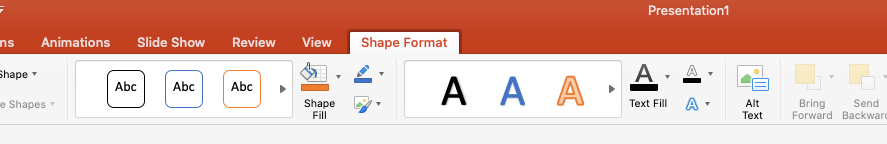 shape format