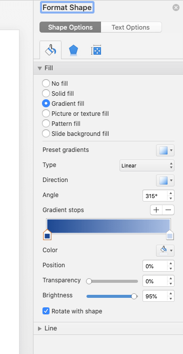 shape options